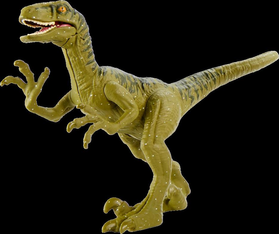 Toy photo of Camp Cretaceous Velociraptor